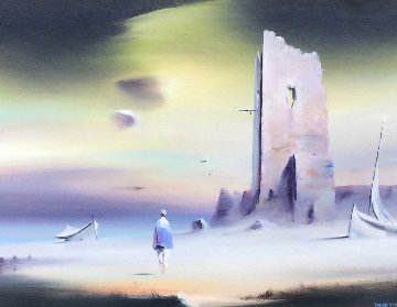Fishermans Tower 18x22 Original Painting by Robert Watson