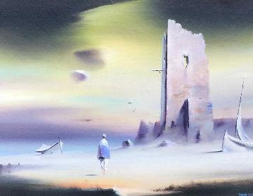 Fishermans Tower 18x22 Original Painting - Robert Watson