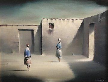Two Figures 1974 18x21 Original Painting by Robert Watson