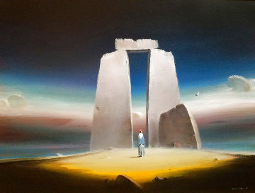 Archway of Time 18x24 Original Painting - Robert Watson