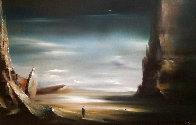 Desert 22x32 Original Painting by Robert Watson - 0