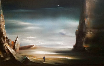 Desert 22x32 Original Painting - Robert Watson