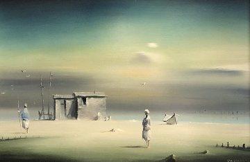 Morning Dream 1971 14x18 Original Painting by Robert Watson