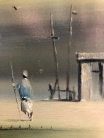 Morning Dream 1971 14x18 Original Painting by Robert Watson - 3