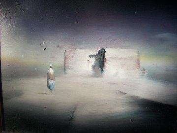 Abode 16x18 Original Painting by Robert Watson