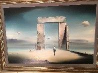 Monument 1977 31x43 Super Huge Original Painting by Robert Watson - 1