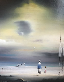 Untitled 1981 10x8 Original Painting by Robert Watson