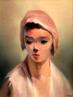 Mood 19x16 Original Painting - Robert Watson