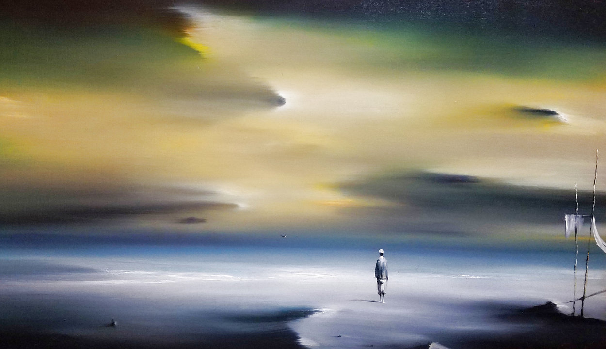 Yellow Morning 22x32 Original Painting by Robert Watson