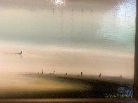Lighthouse 1972 21x36 Original Painting by Robert Watson - 4