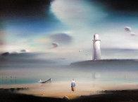 Lighthouse 1984 18x24 Original Painting by Robert Watson - 0