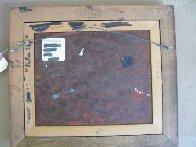 Yellow Sky 1977 12x14 Original Painting by Robert Watson - 7