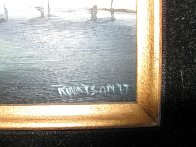 Yellow Sky 1977 12x14 Original Painting by Robert Watson - 3