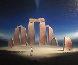Stonehenge II 1999 39x48 Original Painting by Robert Watson - 0