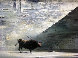Bull 1954 24x20 Original Painting by Robert Watson - 0