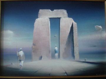 Love is Better than Parting 1992 8x11 Original Painting - Robert Watson