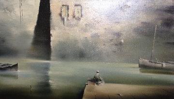 Canalside 1965 24x38 Original Painting by Robert Watson