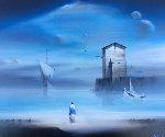 From the Sea II 1990 27x23 Original Painting - Robert Watson