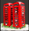 Phone Boxes in Love Suite of 3 2008 Limited Edition Print - James Watt