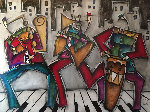 Jazz 2004 68x48 Original Painting - Eric Waugh