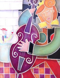 Purple Bass Jazz 2007 Limited Edition Print by Eric Waugh
