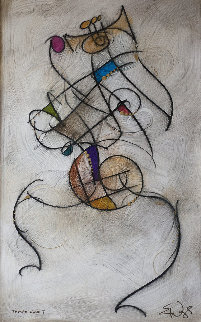Tempo Sr. #7 1998 33x25 Original Painting - Eric Waugh