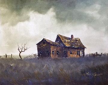 Untitled 1960 34x39 Original Painting - Wayne Cooper