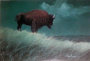 Buffalo on Hill Limited Edition Print - Wayne Cooper