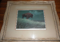 Buffalo on Hill Limited Edition Print by Wayne Cooper - 1