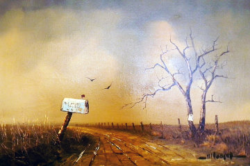 Country Road with Mailbox 1969 36x24 Original Painting by Wayne Cooper