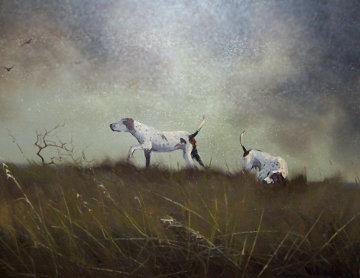 Honoring the Point 1970 44x44  Huge Original Painting - Wayne Cooper