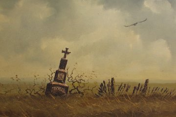 Untitled    Cooper Tomb Stone 33x44 Original Painting - Wayne Cooper