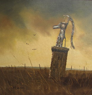 Water Pump 44x44 Original Painting - Wayne Cooper