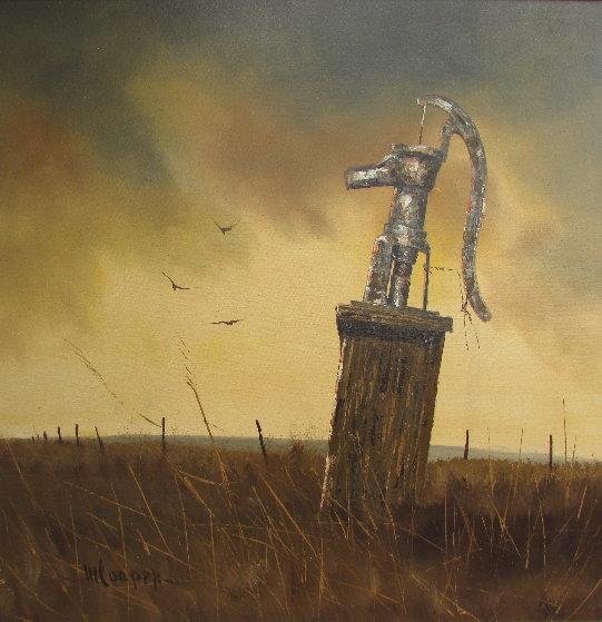 Water Pump 44x44 Original Painting by Wayne Cooper