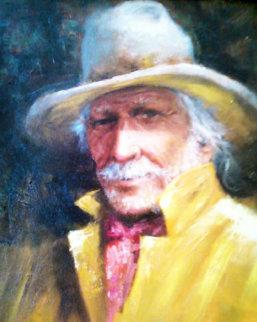 Chance of Showers 1998 22x19 Original Painting - Wayne Cooper
