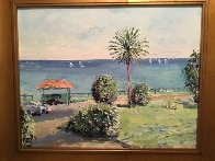 From the Royal Dutchy Falmouth 25x29 Original Painting by Stokely Webster - 1