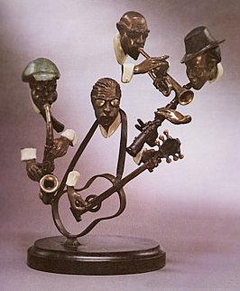 One Mo' Time   Bronze Sculpture 1985 38 in Sculpture by Paul Wegner