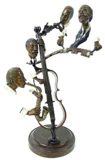 Bourbon Street Bronze Sculpture 1985 19 in  Sculpture - Paul Wegner