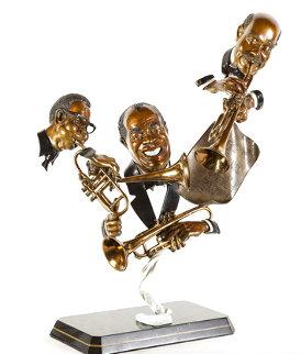 Dizzy, Louis, Handy Bronze Sculpture 1995 30 in Sculpture - Paul Wegner