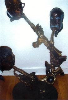 Pure Jazz Bronze Sculpture 32 in Sculpture by Paul Wegner