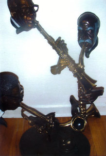 Pure Jazz Bronze Sculpture 32 in Sculpture - Paul Wegner
