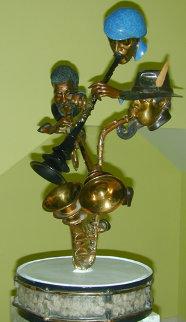 Show Time Bronze Sculpture 1991 33 in Sculpture by Paul Wegner