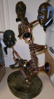 Pure Jazz Bronze Sculpture 1986 30 in Sculpture by Paul Wegner