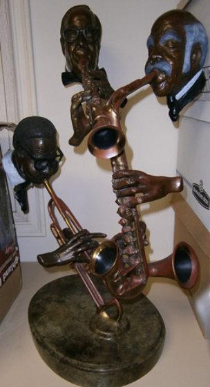 Pure Jazz Bronze Sculpture 1986 30 in Sculpture by Paul Wegner