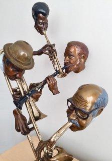 New Orleans Style Bronze Sculpture 1984 34 in Sculpture by Paul Wegner