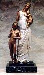 Maternity Bronze Sculpture 1990 23 in Sculpture - Felix de Weldon