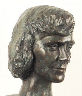 Young Woman Bronze Life Size Sculpture 1982 12 in  Sculpture - Felix de Weldon