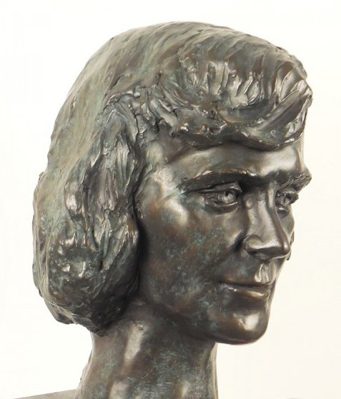 Young Woman Bronze Life Size Sculpture 1982 Sculpture by Felix de Weldon