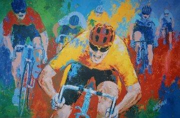 A Tour De France 50x65 Huge Original Painting - Ken Wesman