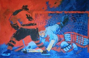 Challenge Met  1980 65x50 Super Huge Original Painting - Ken Wesman
